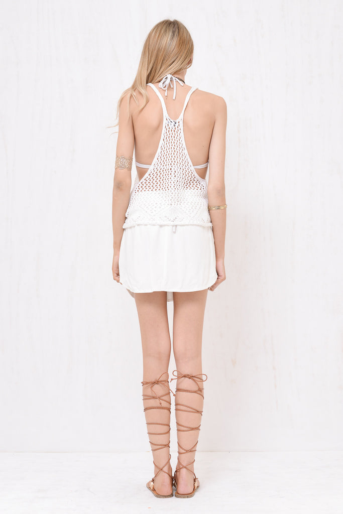 Santorini Loose Knit Singlet White - Morrisday | The Label - 5