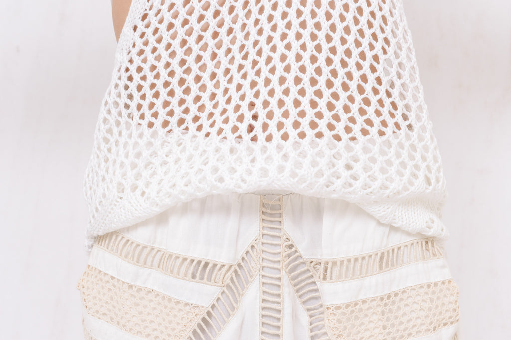 Santorini Loose Knit Singlet White - Morrisday | The Label - 6