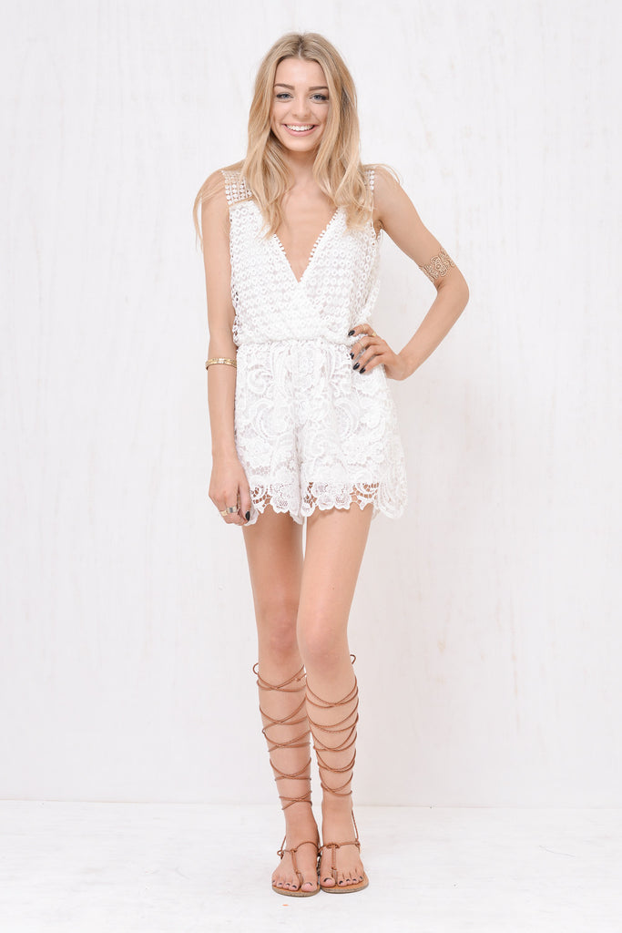 Juliette Lace Playsuit White - Morrisday | The Label - 2
