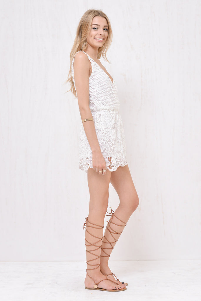 Juliette Lace Playsuit White - Morrisday | The Label - 5
