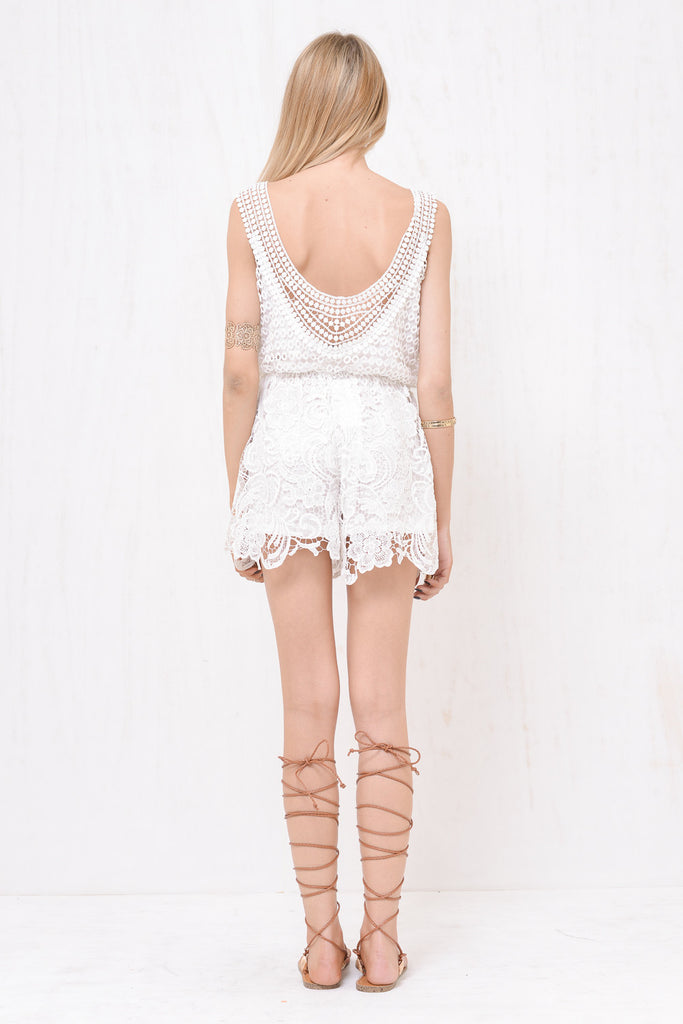 Juliette Lace Playsuit White - Morrisday | The Label - 6