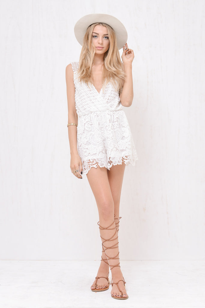 Juliette Lace Playsuit White - Morrisday | The Label - 3