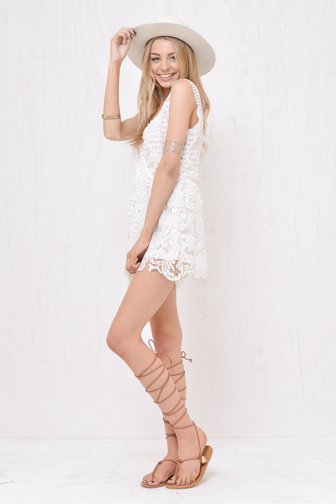 Juliette Lace Playsuit White - Morrisday | The Label - 4