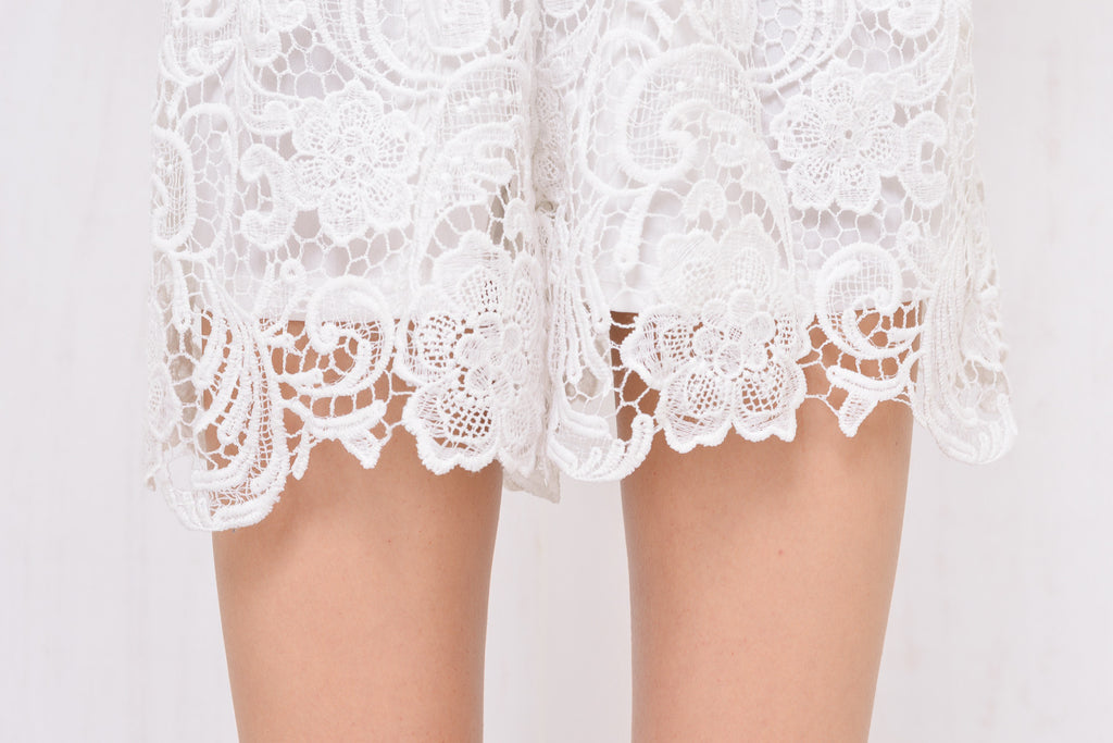 Juliette Lace Playsuit White - Morrisday | The Label - 7