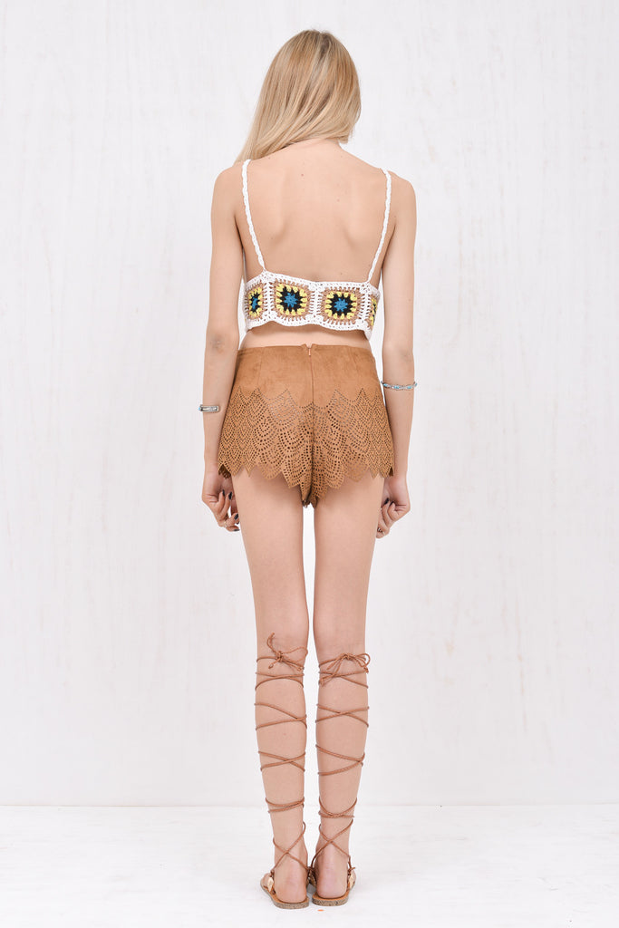 Jane Brown faux-suede laser cut short - Morrisday | The Label - 4