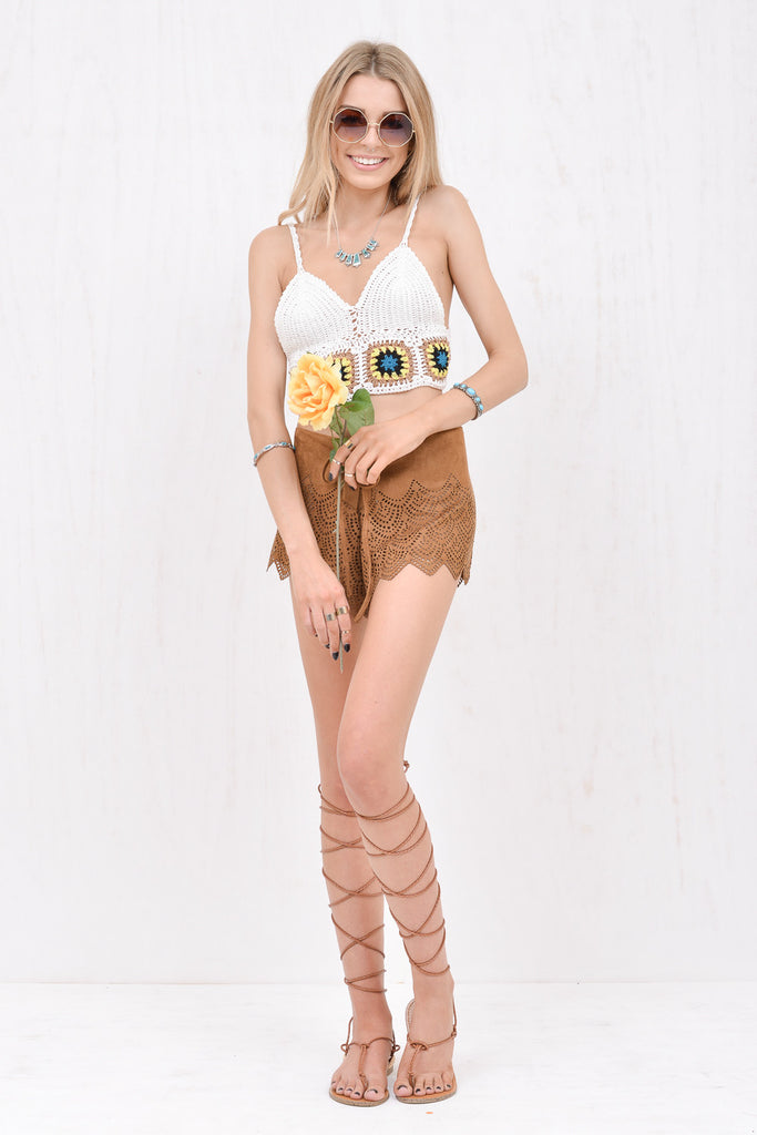 Jane Brown faux-suede laser cut short - Morrisday | The Label - 5