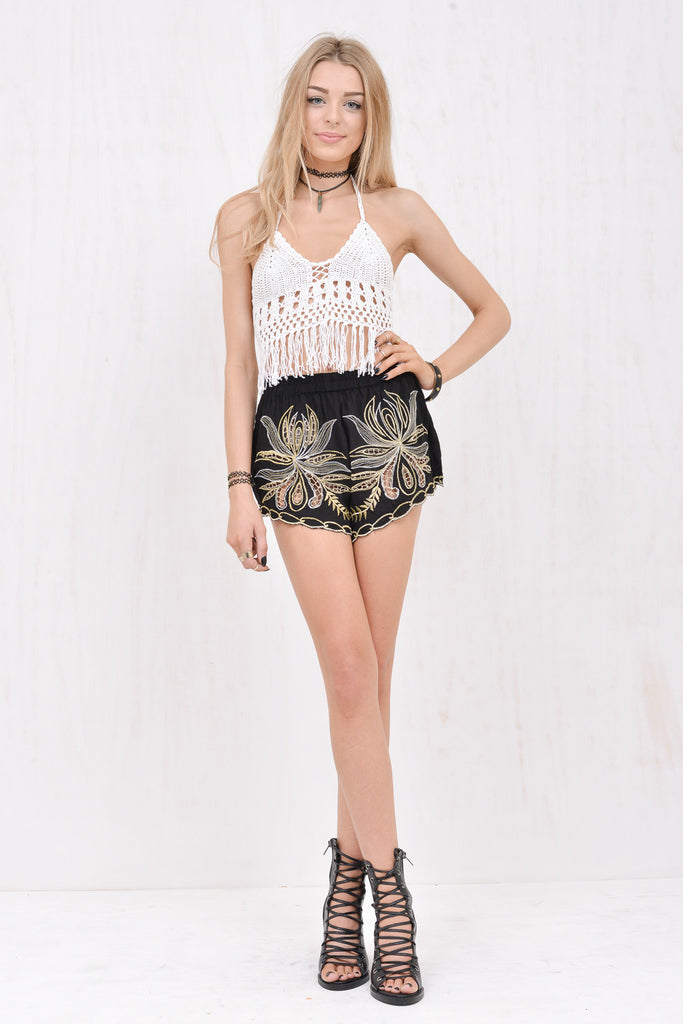 Lola Fringed Crochet Crop White - Morrisday | The Label - 3