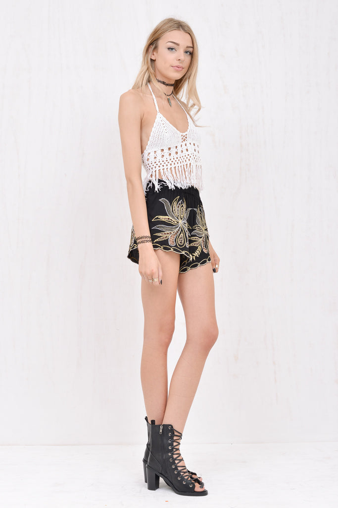 Lola Fringed Crochet Crop White - Morrisday | The Label - 5