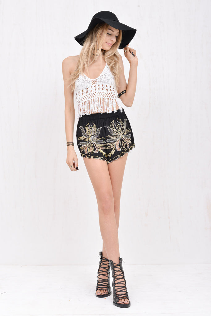 Lola Fringed Crochet Crop White - Morrisday | The Label - 2