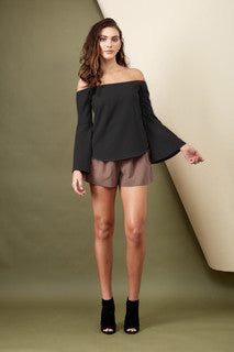 Into The Mirage Bell Sleeve Top Black