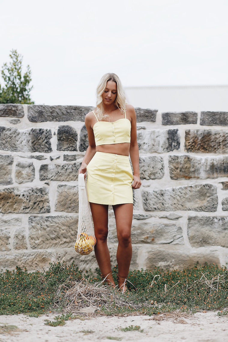 Paloma Crop Top Lemon