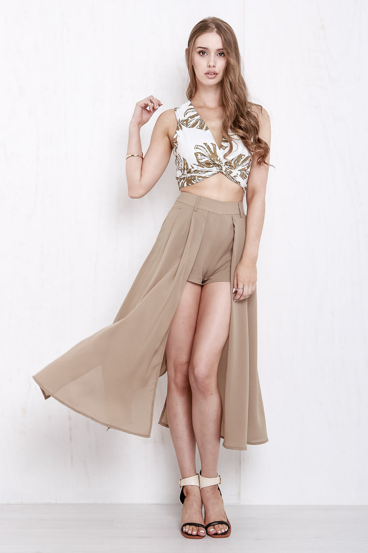 Paradise Drape Crop Olive/White - Morrisday | The Label - 1