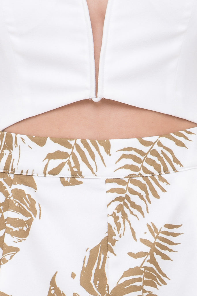 California Playsuit White/Palm Tree Print - Morrisday | The Label - 6