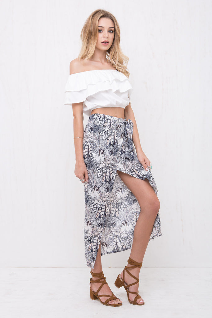 Indigo Maxi Wrap Skirt - Morrisday | The Label - 3