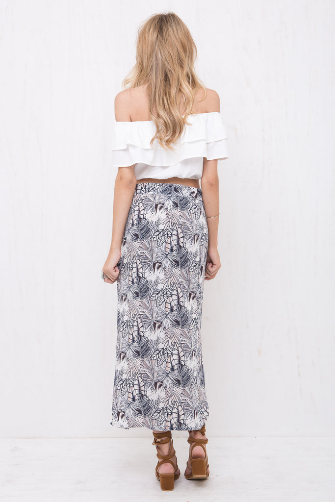 Indigo Maxi Wrap Skirt - Morrisday | The Label - 4