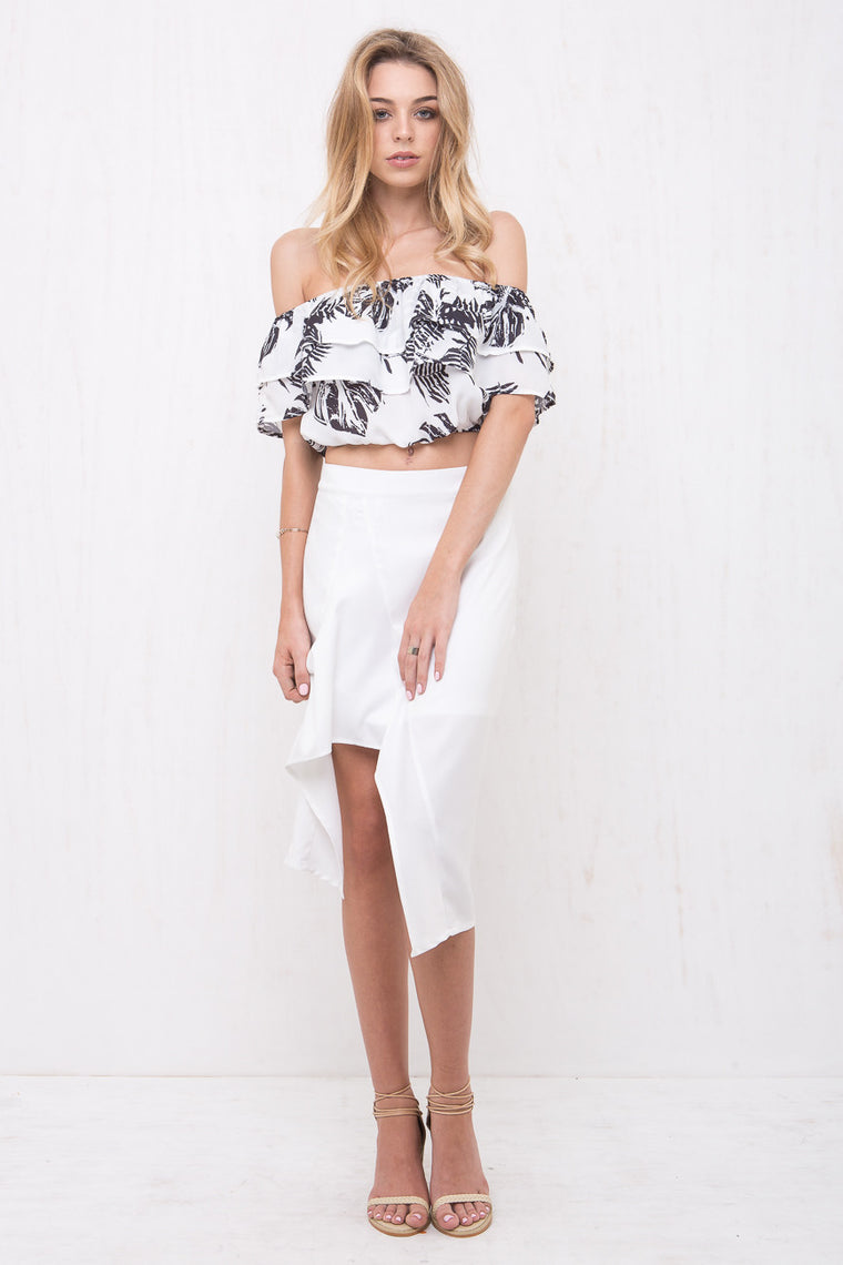 Paradise Off Shoulder Crop - Morrisday | The Label - 1