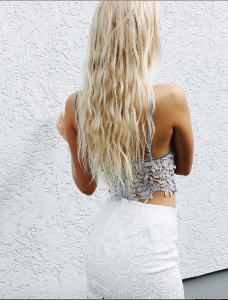 Mermaid Sequin Mini Skirt White - Morrisday | The Label - 2