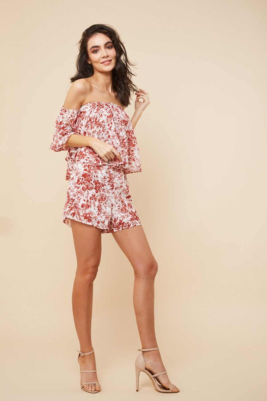02b530e705f6 Burnt Summer Off- shoulder Playsuit - Morrisday | The Label