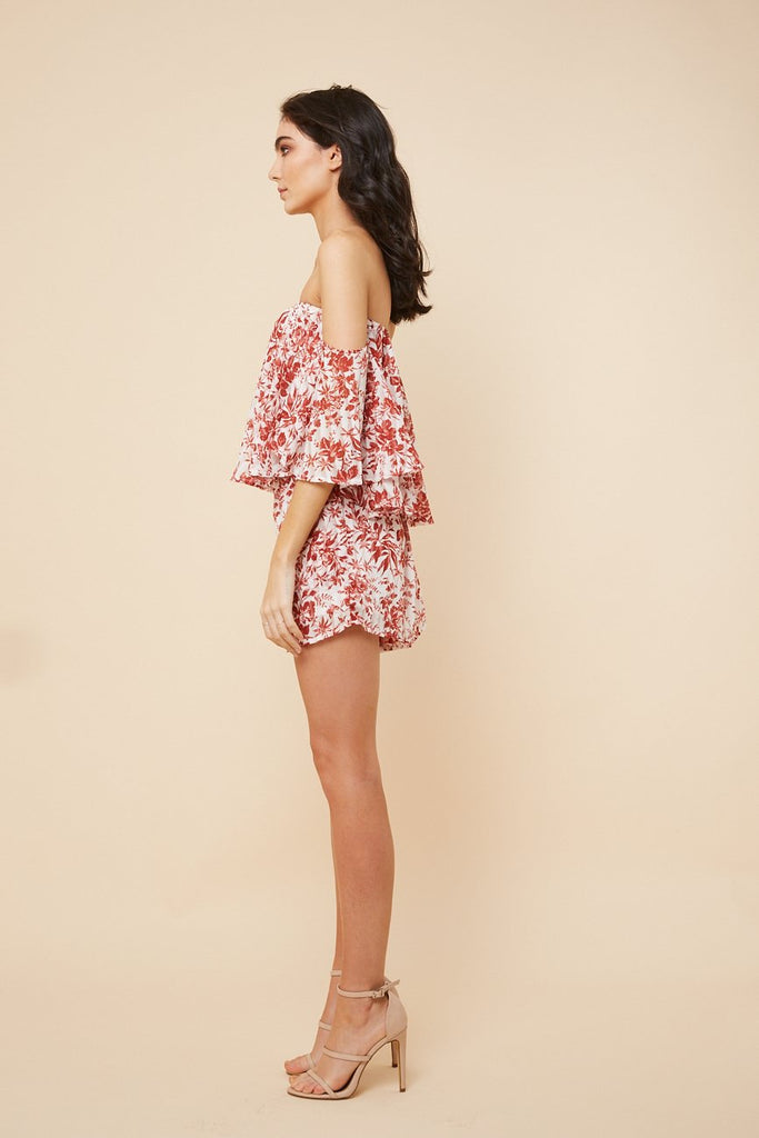 Burnt Summer Off- shoulder Playsuit