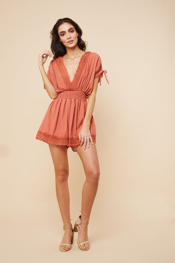 Sweet Lucy Playsuit Coral