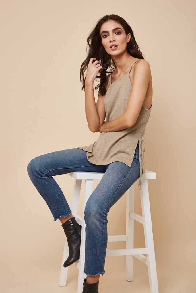 Down Time Knit Tank Sand