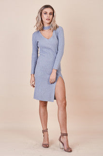 Love Struck Knit Dress Grey