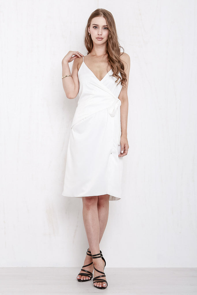 Rose Wrap Dress White - Morrisday | The Label - 1