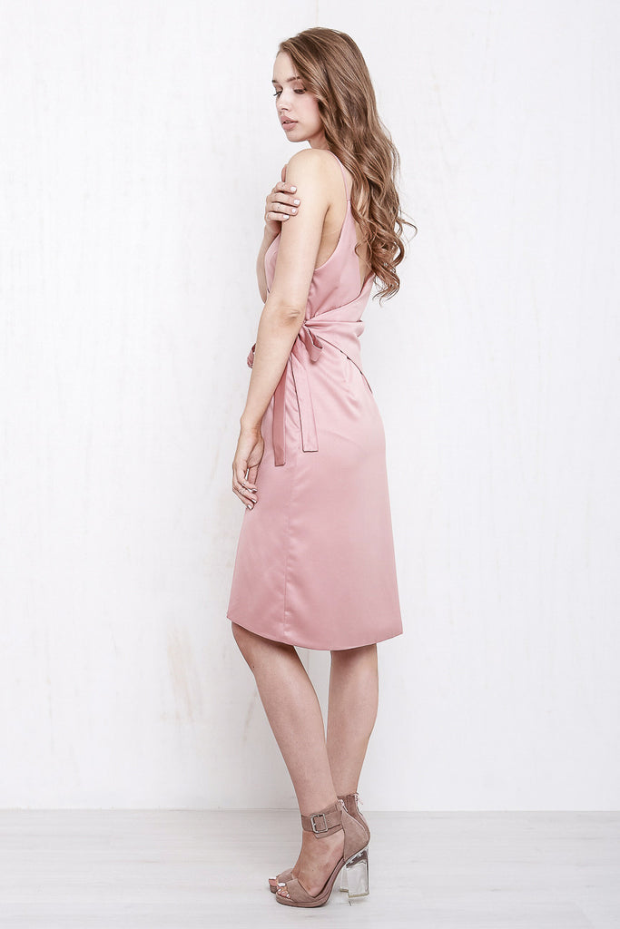 Rose Wrap Dress Dusty Rose - Morrisday | The Label - 3