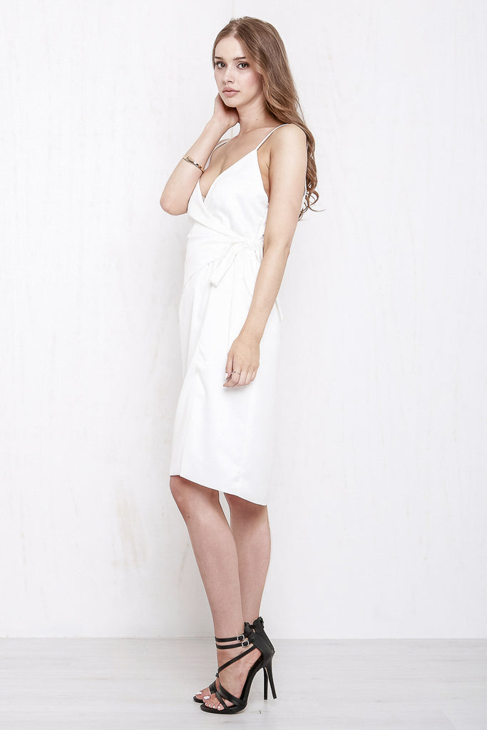 Rose Wrap Dress White - Morrisday | The Label - 3
