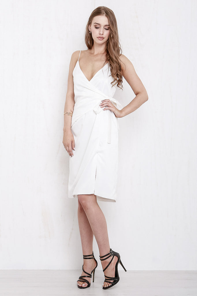 Rose Wrap Dress White - Morrisday | The Label - 6
