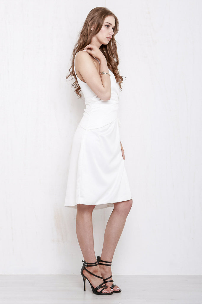 Rose Wrap Dress White - Morrisday | The Label - 4
