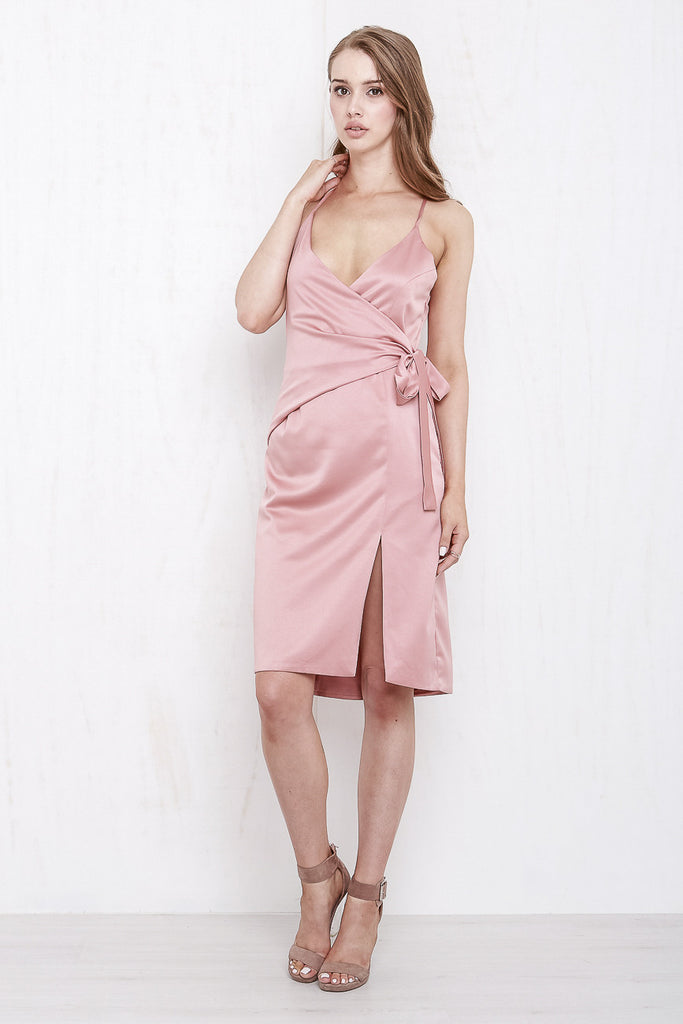 Rose Wrap Dress Dusty Rose - Morrisday | The Label - 4