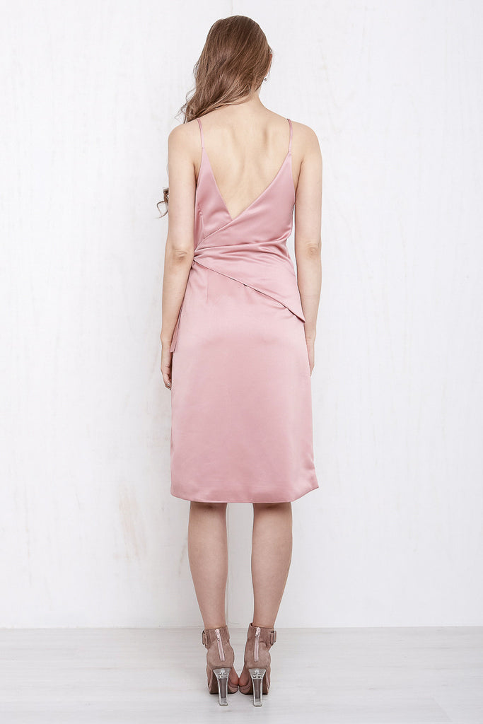Rose Wrap Dress Dusty Rose - Morrisday | The Label - 5