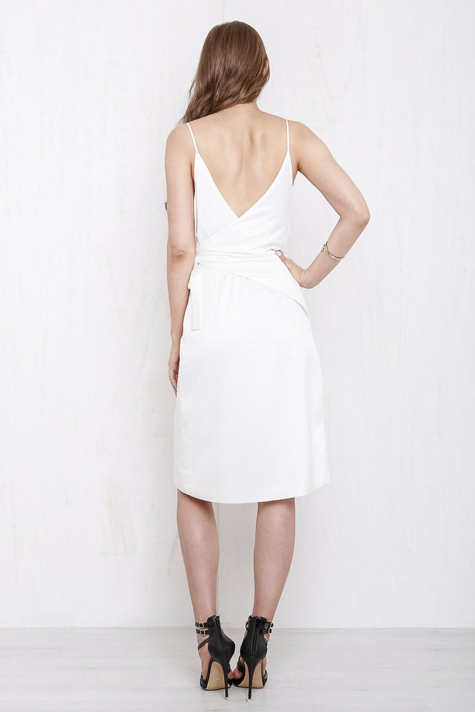 Rose Wrap Dress White - Morrisday | The Label - 5