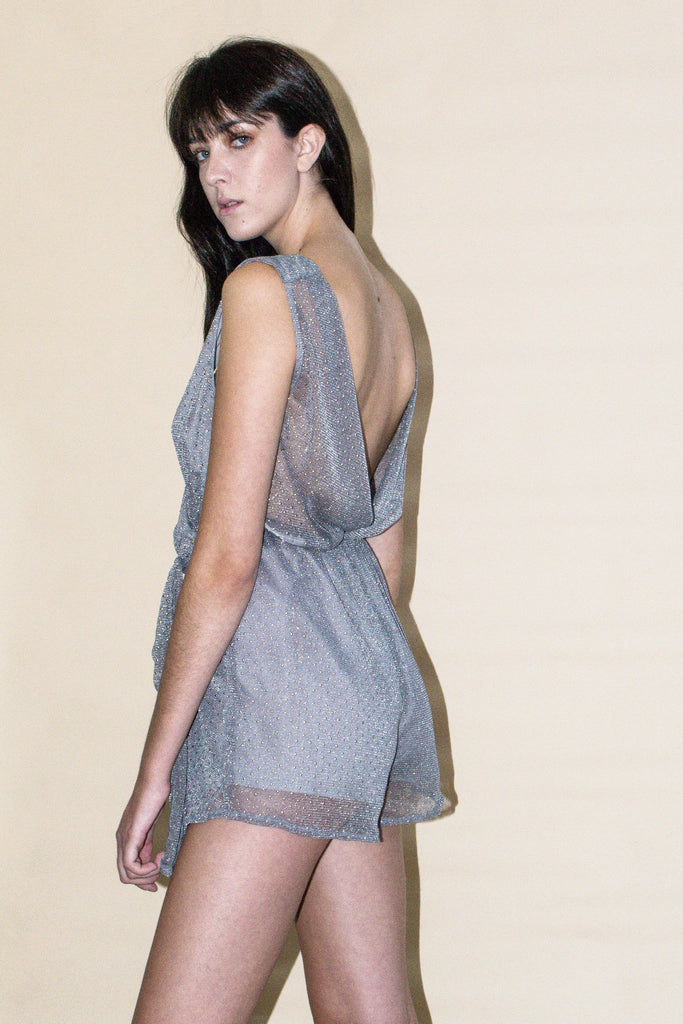 Star Dust Mesh Playsuit