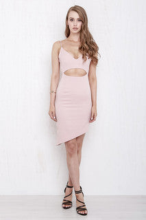 Only Heart Dress Nude