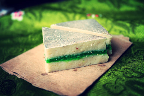 Kaju pista sandwich - Delhish Indian sweets mithai - 1