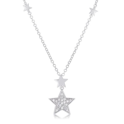 Bianca Start with Shimmering CZ Pendant Necklace