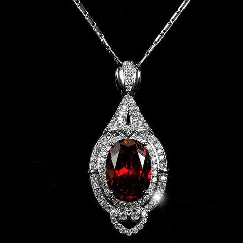 Adela Art Deco Ruby Pendant  | 27ct