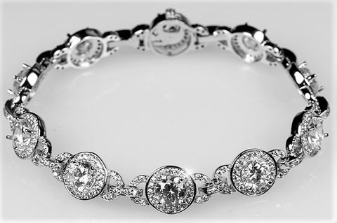 Abella Vintage Halo Statement Bracelet – 7.25in