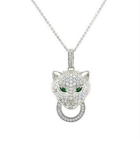 Abella CZ Panther Fashion Pendant