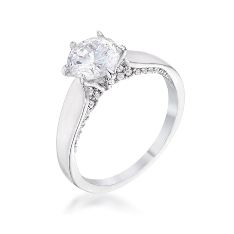 Afron Contemporary CZ Solitaire Engagement Ring | 1.8ct