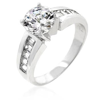 Alnor Classic Round Solitaire Engagement Ring | 3.5ct | Cubic Zirconia
