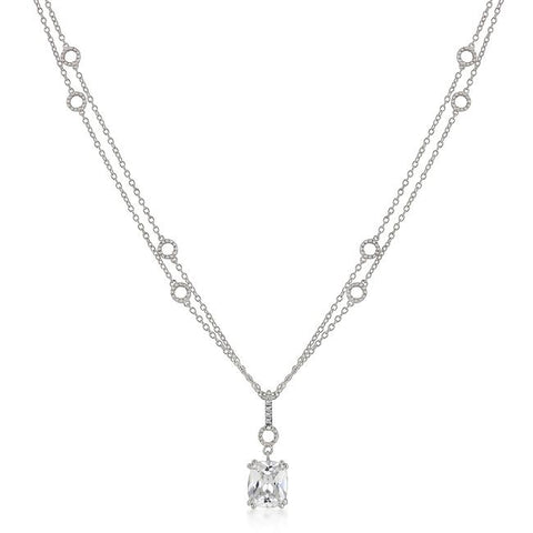 Amaris Radiant Drop Pendant Necklace | 6.5ct