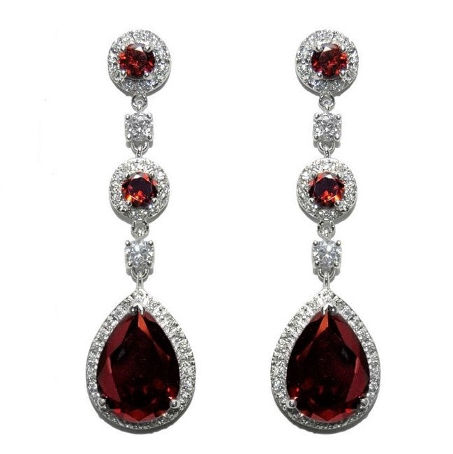 Amberly Ruby Chandelier Earrings | 57mm