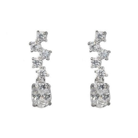 Amiee Bubble Dangle Stud Earrings | 1.75ct