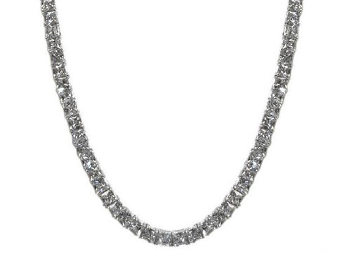Anissa CZ Princess Cut Tennis Necklace Set