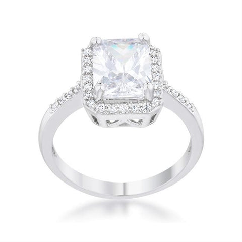 Ariana 3(ct) Radiant Cut Solitaire Classic Halo Engagement Ring | 4ct