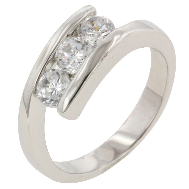 Audry Classic  Triplet Fashion Band Ring | 1.2ct