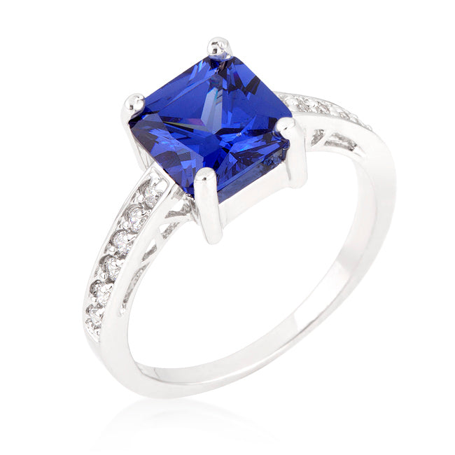 Barrie Purple Blue Princess Cut Solitaire Ring | 2.5ct